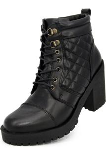 Bota Cano Curto Over Boots Valentina Preta - Kanui
