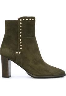 Jimmy Choo Ankle Boot De Couro Modelo 'Harlow 80' - Green
