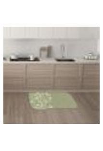 Tapete De Cozinha Mdecore Floral Verde 40X60Cm