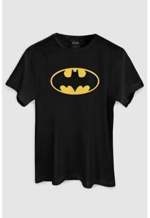 Camiseta Dc Comics Batman Clássico Bandup! - Masculino-Preto
