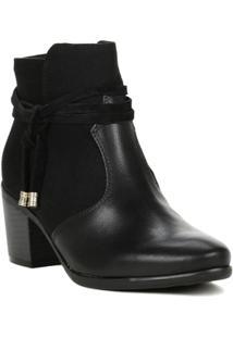 Bota Feminina Comfortflex Ankle Boot Preto - Feminino-Preto