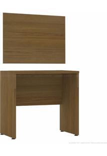 Escrivaninha/Mesa Para Computador Com Painel Decorativo Hank Ipê - Casabras