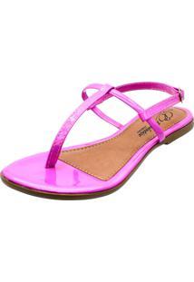 Sandália Romântica Calçados Tirinha Pink - Tricae