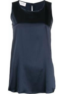 Snobby Sheep Blusa Decote Careca Sem Mangas - Azul