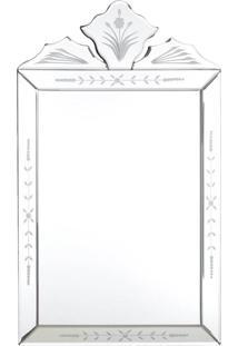 Espelho Veneziano- Pashmina- Retangular- Branco