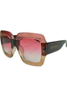 Óculos De Sol Mackage Feminino Acetato Oversize Quadrado - Marrom