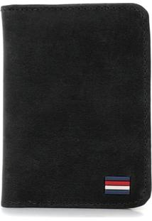 Carteira Difranca Em Couro Fóssil Compacta - 001 - Preto