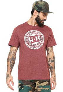 Camiseta Dc Shoes Circle Color Marrom