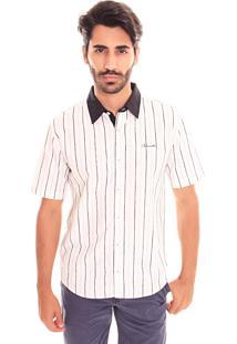 Camisa Convicto Slim Listras Off White