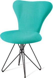 Cadeira Jacobsen Series 7 Verde Com Base Estrela Preta - 55922 - Sun House