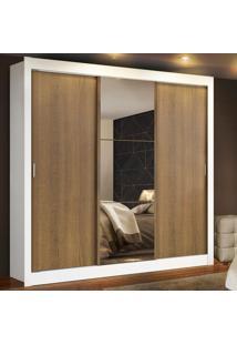 Guarda Roupa Casal Madesa Mã´Naco 3 Portas De Correr Com Espelho Branco - Branco - Dafiti