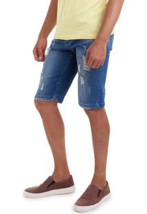 Bermuda Versani Jeans Escuro