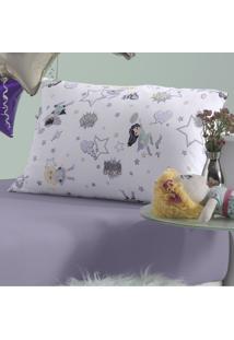 Fronha Para Travesseiro De Corpo In Cotton Kids 30Cm X 65Cm Meninas Em Ação – Branco Bege