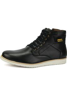 Coturno Bota Mr. Light Preto