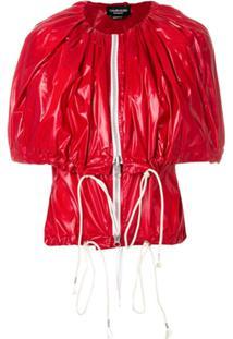 Calvin Klein 205W39Nyc Jaqueta Com Zíper - Vermelho