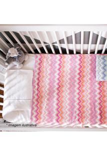 Cobertor Zig Zag- Rosa & Rosa Escuro- 90X110Cm- Camesa