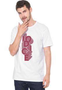 Camiseta Iódice Lettering Branca