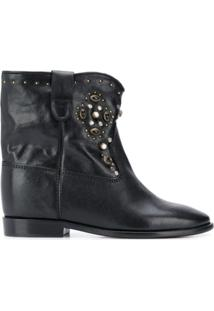 Isabel Marant Ankle Boot Cluster Com Tachas - Preto