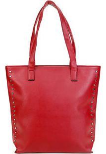 Bolsa Pagani Shopper Lisa Feminina - Feminino-Vermelho