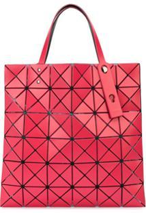 Bao Bao Issey Miyake Bolsa Tote Com Padronagem Geométrica - Vermelho