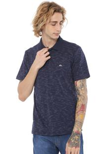 Camisa Estampada Quiksilver Reta Jet Azul-Marinho