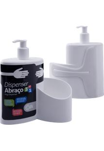 Dispenser Abraço Basic 19,7 X 8,5 X 16,6 Cm 600 Ml Branco Coza