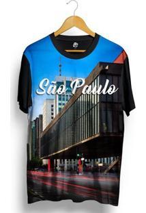 Camiseta Bsc São Paulo Full Print - Masculino-Preto