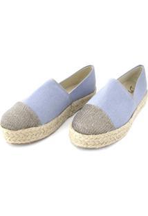 Alpargata Dalí Shoes Flatform Jeans Azul