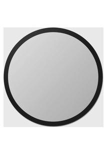 Espelho Edge 110Cm Espelho Prata E Borda Preto Vidrotec