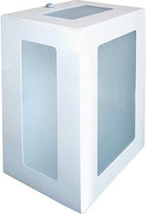 Arandela Retangular Branca 20Cm Em Alumínio Estilo 1213 Biancoluce