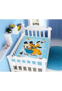 Cobertor Infantil Disney Mickey Divertido Azul Jolitex