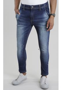 Calça Jeans Cropped Azul Escuro