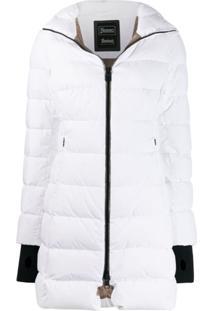 Herno Mid-Length Puffer Jacket - Branco