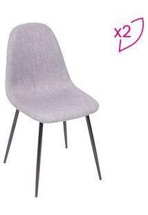Or Design Jogo De Cadeiras Charla Cinza & Preto 2Pã§S