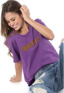Camiseta Colcci Sensitivy Roxa