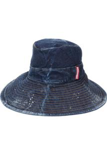 Dsquared2 Chapéu Jeans Com Estampa - Azul