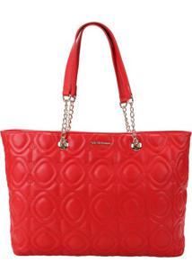 Bolsa Em Matelassãª- Vermelha- 27X36X10Cm- Ana Hiana Hickmann