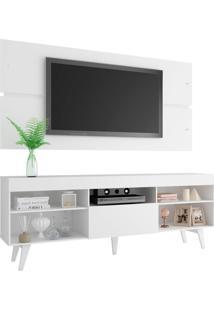 Rack Com Painel Para Tv Atã© 65 Polegadas Madesa Miami Com Pã©S - Branco Branco - Branco - Dafiti