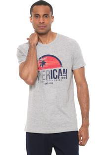 Camiseta Calvin Klein Jeans American Cinza