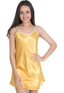 Camisola De Cetim 002 Amarelo