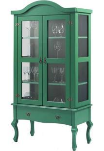 Cristaleira Versalhes 2 Portas E 1 Gaveta Cor Verde 192 Cm - 63701 - Sun House