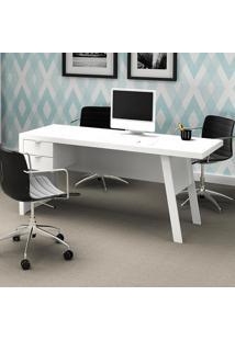 Mesa Para Computador Com 2 Gavetas Me4122 - Tecno Mobili - Branco
