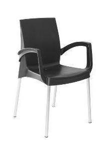 Cadeira Viena Confort Plastico Polipropileno Preta