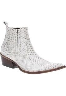 Bota Couro Cow Way Masculino - Masculino-Off White