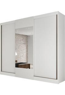 Guarda Roupa Make 3 Portas Com Espelho Branco