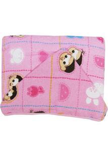Toalha De Banho Feminina Com Capuz Estampada Mônica E Magalí Bebê - Feminino-Rosa