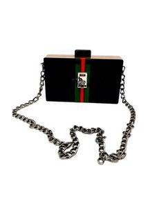 Bolsa Clutch Design Front Black