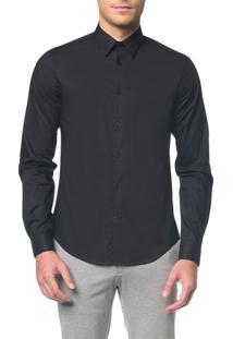 Camisa Calvin Klein Extra Slim Simples - Preto Camisa Calvin Klein Extra Slim Simples Preto - 3