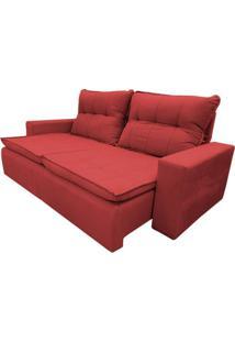 Sofá Atenas - Retrátil E Reclinável - Vermelho - 236Cm
