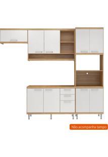 Cozinha Compacta Lobos 9 Pt 3 Gv Argila E Branco